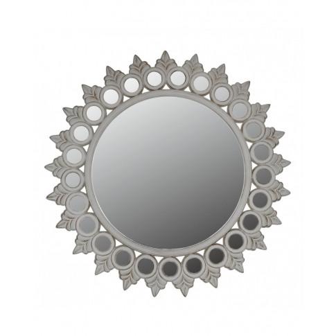 Antique White Morocco Wall Mirror