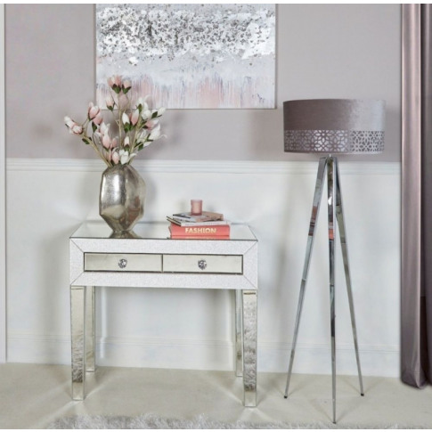 Aria 2 Drawer Mirrored Console Table