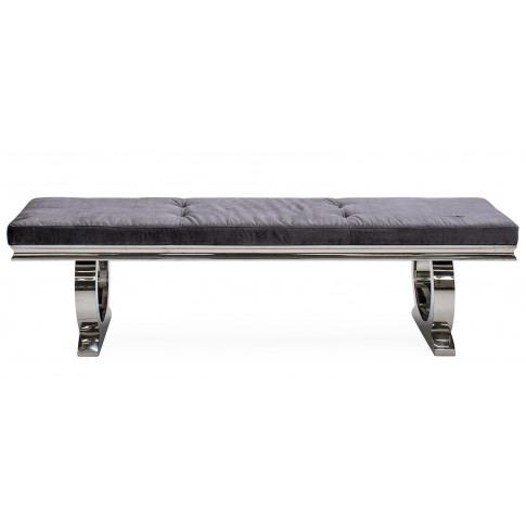 Arianna 180cm Charcoal Velvet Bench