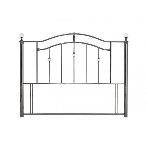 Serene Ashley 4ft6 Double Black Nickel Metal Headboard