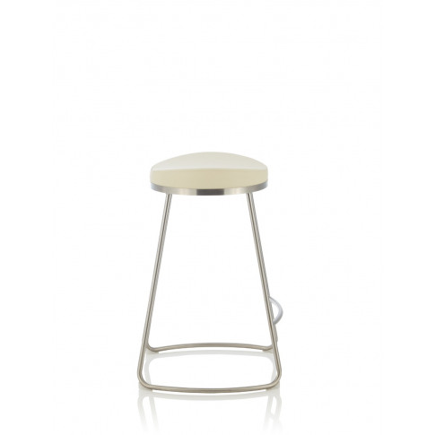 Aspen Cream Faux Leather Fixed Counter Height Barstool