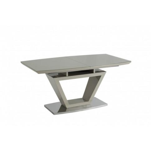 Aspen Latte Glass 160cm Ext Dining Table