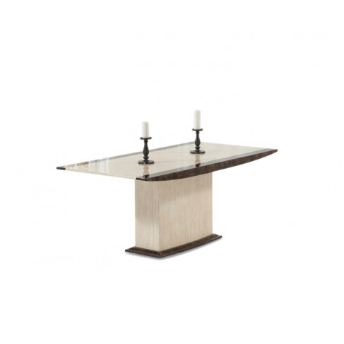 Alba 180cm Cream And Brown Constituted Marble Dining...