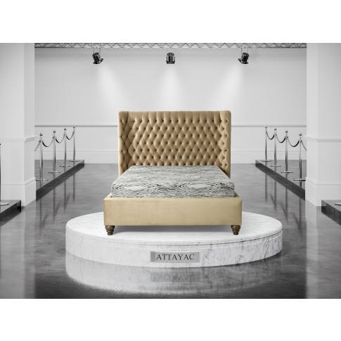 Oliver & Sons Attayac 4ft6 Double Fabric Bed