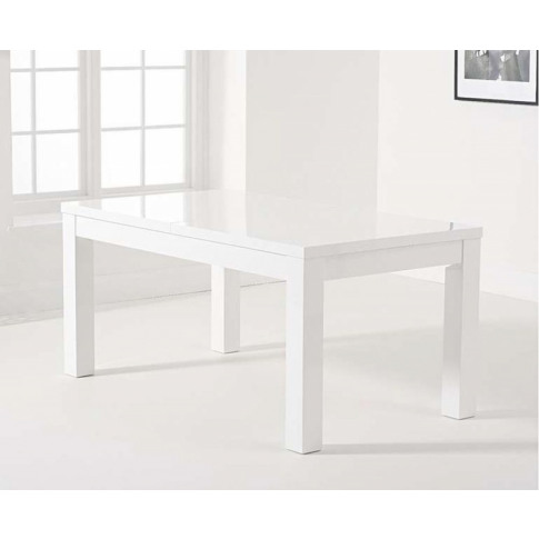 Ava White Gloss 160-220cm Ext. Dining Table