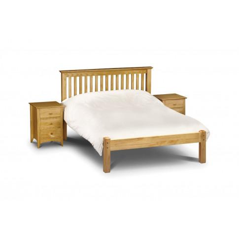 Julian Bowen Barcelona 5ft King Size Low Foot End Pine Bed