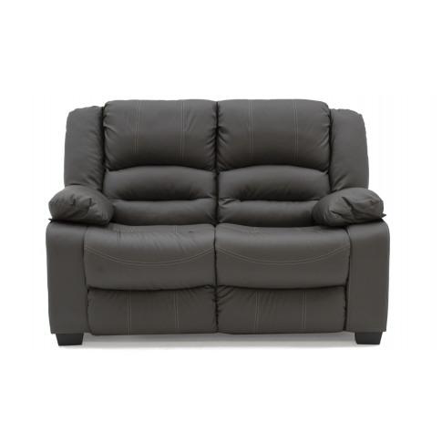 Barletto 2 Seater Grey Leather Fixed Sofa