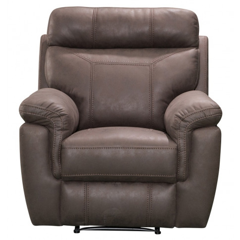 Baxter 1 Seater Brown Fabric Recliner Armchair