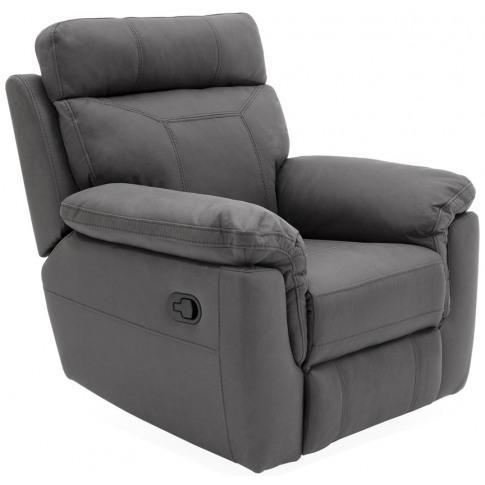 Baxter 1 Seater Grey Fabric Recliner Armchair