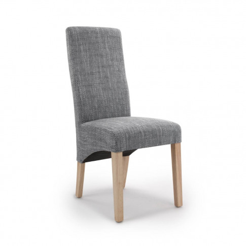 Baxter Wave Back Tweed Grey Dining Chair