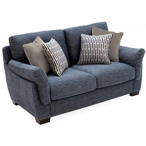 Beckett 2 Seater Blue Fabric Sofa