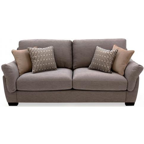 Beckett 3 Seater Blue Fabric Sofa