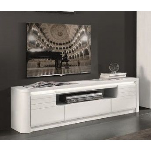 Bellini White High Gloss Tv Unit