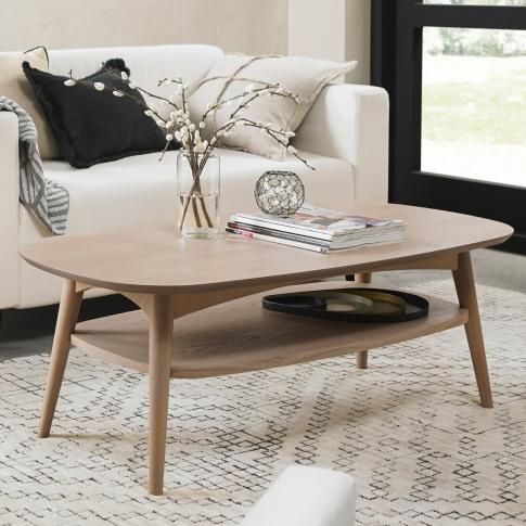Bentley Designs Dansk Scandi Oak Coffee Table With S...
