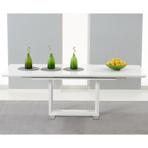 Beckley 160cm White High Gloss Dining Table