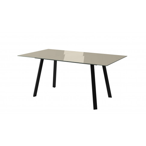 Fairmont Ramos 140-180cm Taupe Ext Glass Dining Table