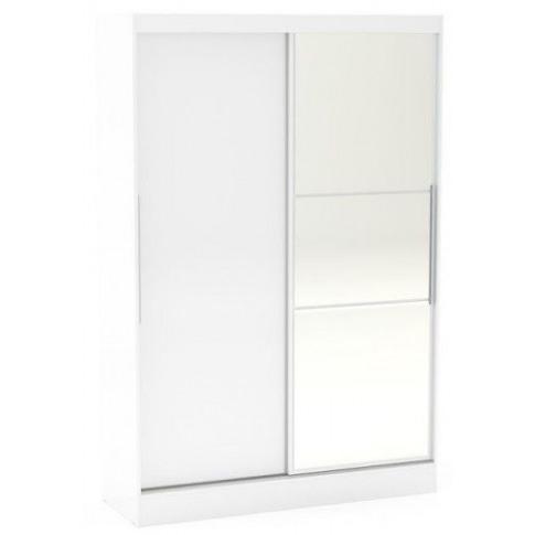 Birlea Lynx 2 Door Sliding Door White Gloss Mirror W...