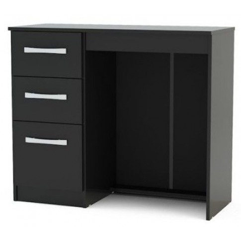 Birlea Lynx 3 Drawer Dressing Table Black