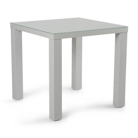 Fairmont Blanca 80cm Grey High Gloss Dining Table
