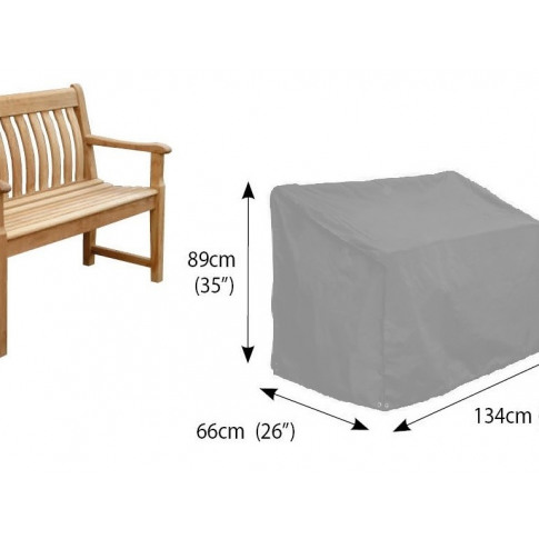 Bosmere Bench 2 Seat Cover In Grey