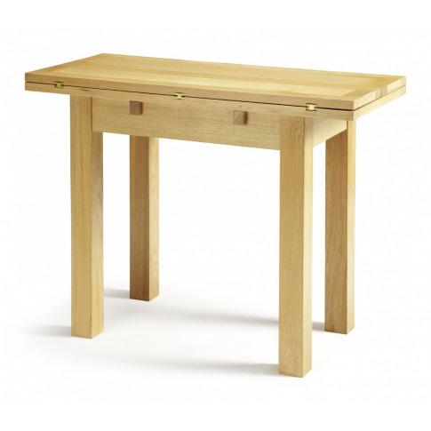 Serene Brent Oak 45cm Extending Dining Table