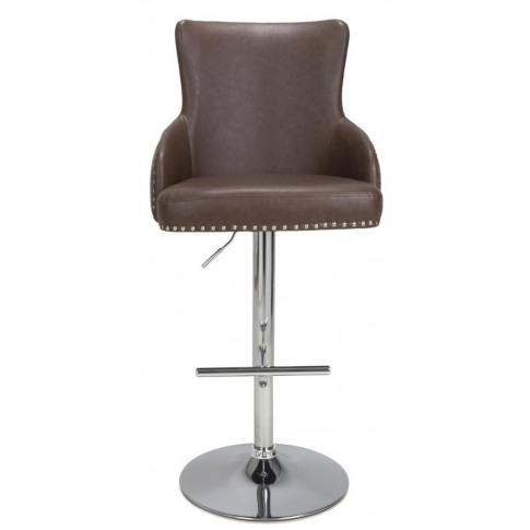 Cairo Brown Leather Effect Bar Stool