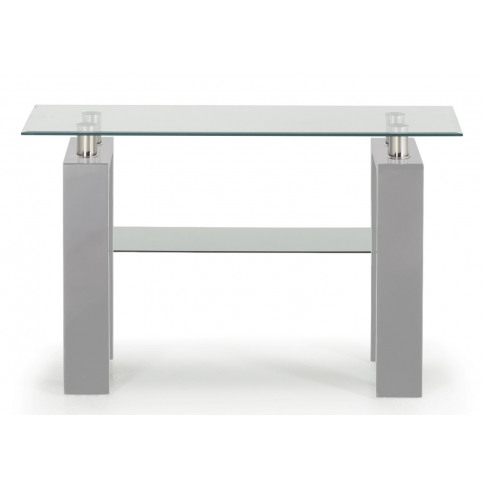 Calico Grey Glass Console Table