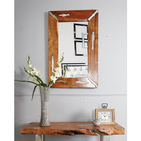 Callum Natural Wood Wall Mirror