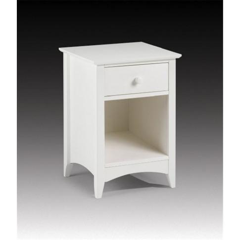 Julian Bowen Cameo 1 Drawer White Bedside Cabinet Table