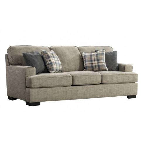 Canterbury 3 Seater Beige Fabric Sofa
