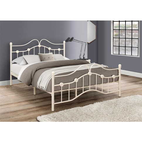 Canterbury Cream Metal 4ft Small Double Bed