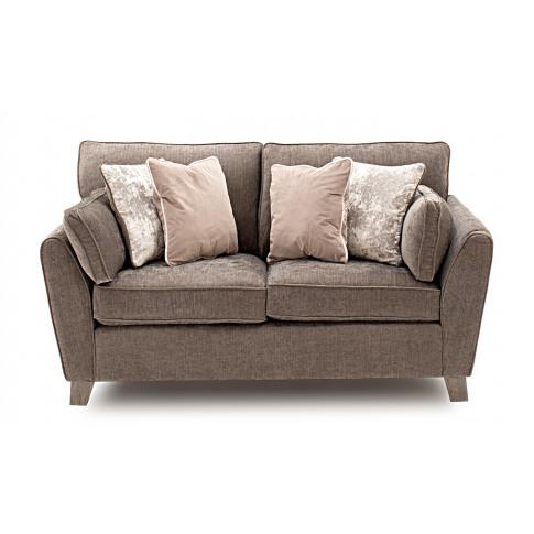 Cantrell 2 Seater Mushroom Fabric Sofa