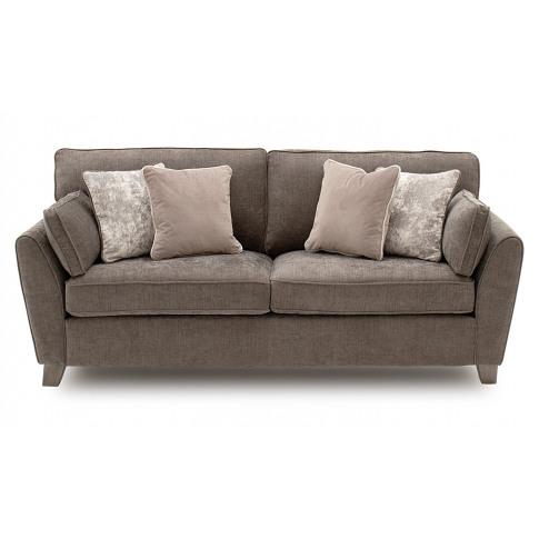 Cantrell 2 Seater Mushroom Fabric Sofa Bed
