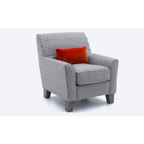 Cantrell Graphite Fabric Accent Chair