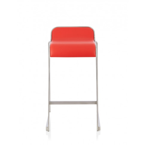 Celosia Red Faux Leather Fixed Counter Height Barstool