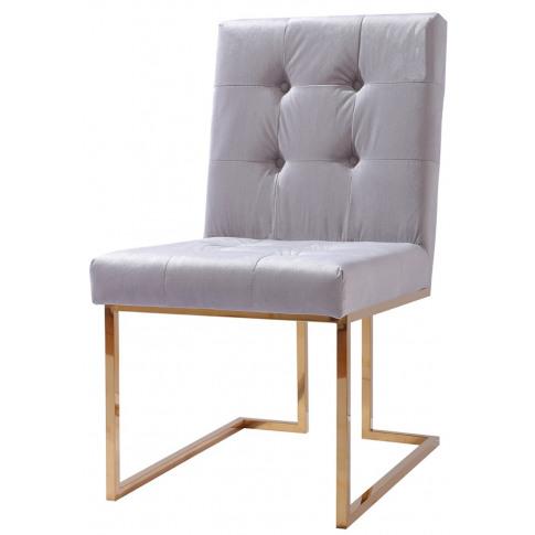 Liang & Esta Grey French Velvet Dining Chair