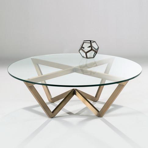 Chelsom Angle Circular Glass Coffee Table