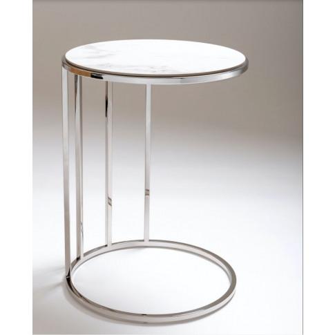 Chelsom Carnegie White Ceramic Side Table