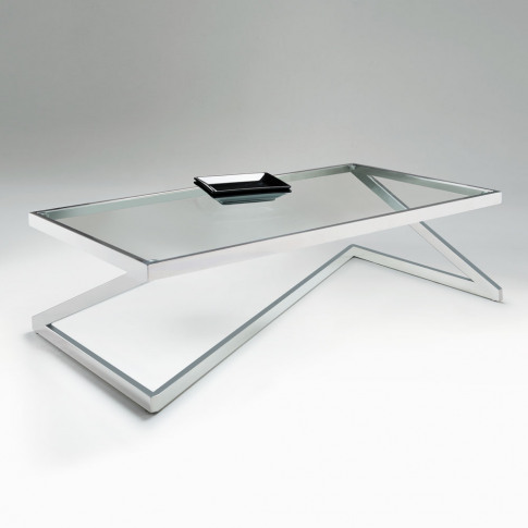 Chelsom Storm Clear Glass Rectangular Coffee Table
