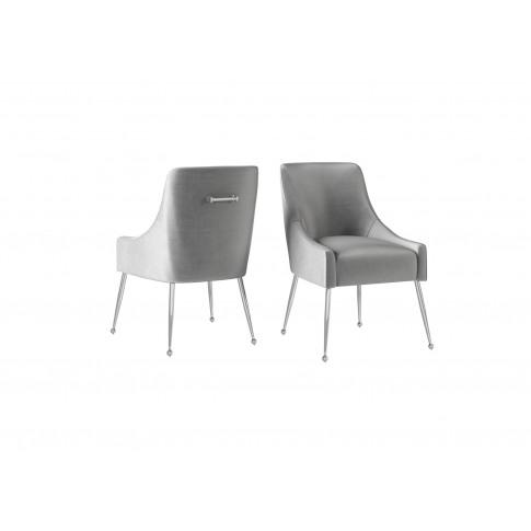 Fairmont Claudia Silver Grey Velvet Dining Chair