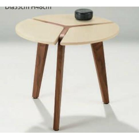 Chelsom Puntura Circular Lamp Table