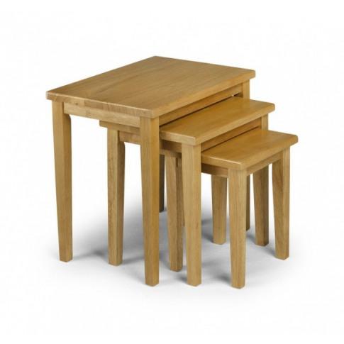 Julian Bowen Cleo 3 Piece Oak Finish Nest Of Tables