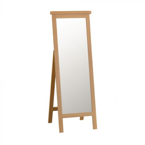 Como Oak Cheval Mirror