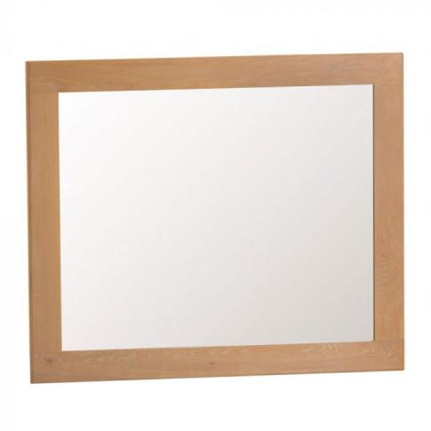 Como Oak Large Wall Mirror