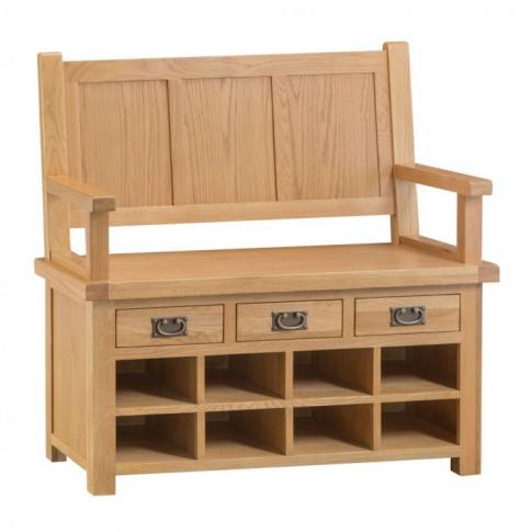 Como Oak Monks Bench