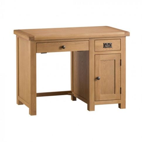 Como Oak Single Computer Desk