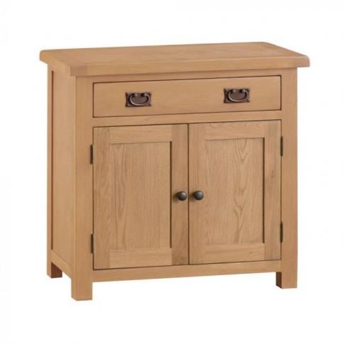 Como Oak Small 2 Door 1 Drawer Sideboard