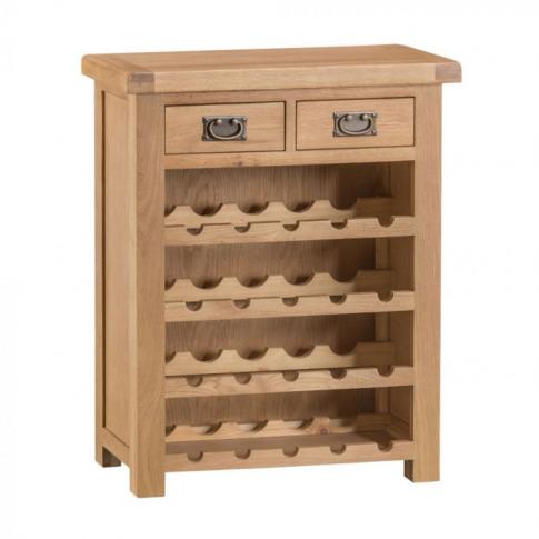 Como Oak Small Wine Rack