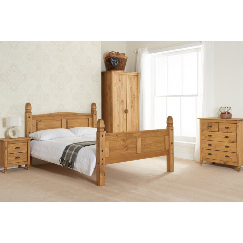 Corona Pine 4ft Small Double High End Bed
