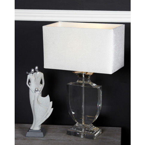 Crystal Cut Glass Regency Medium Table Lamp With Whi...